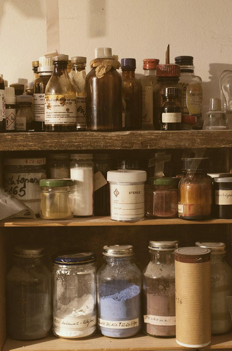 Material aus Wiebke Vogt's Atelier
