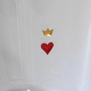 Symbol Becher Herz und Krone