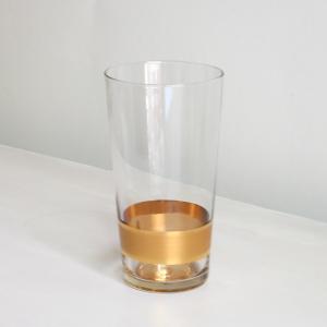 Wasserglas mit breitem Goldband im unteren Drittel