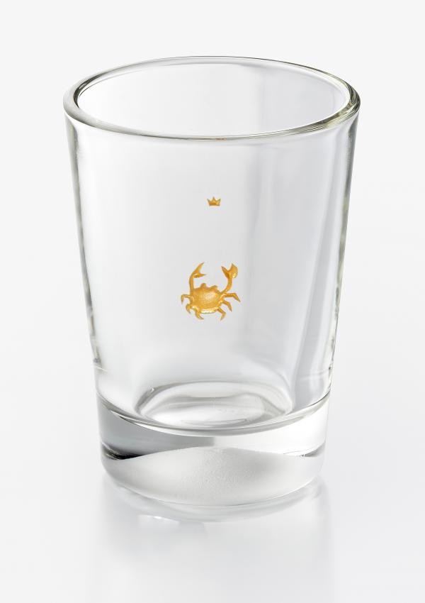 Sternzeichenbecher Glas Krebs