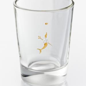 JUNGFRAU Glasbecher graviert farbvergoldet