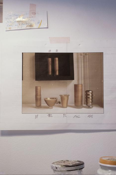 Gefäße der Stille auf Merkzettel. Atelier Wiebke Vogt