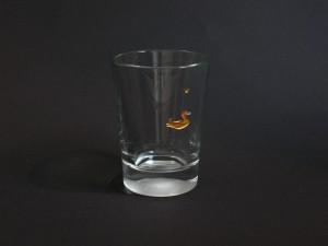 ENTE Glasgravur vergoldet